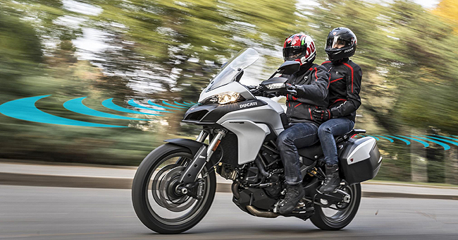 DUCATI GETS RADAR: Tech planned for 2025 has been brought forward to improve crash avoidance. Image: Ducati / Newspress