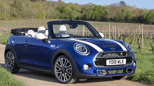 AND SO TO 2018: The anniversary edition of Mini's convertible. Image: Mini / Newspress