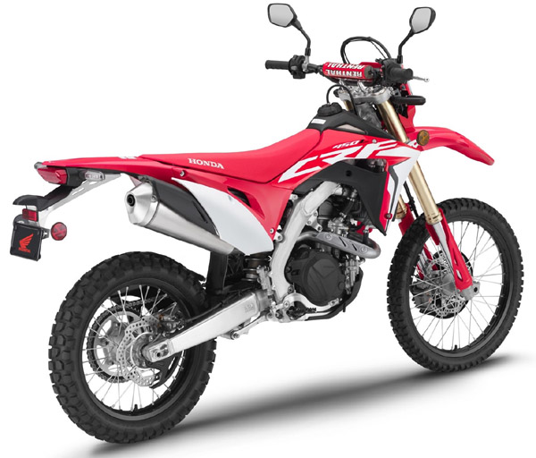 NOW ROAD-LEGAL: Honda has taken its CRF450R motocross racer and made it road legal. Image: Honda Motorcycles
