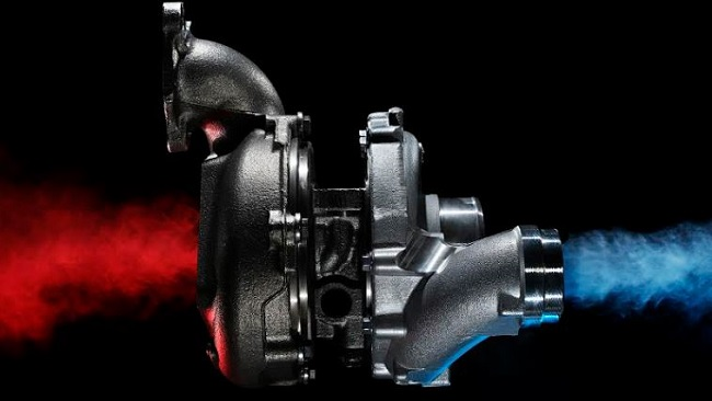 TURBO IN ACTION. LV turbo with air exhaust flows, Image: TurboDirect SA