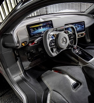 FRESHLY BRANDED: Testing over, Mercedes=AMG's hypercar is on tour in a giant Mercedes truck. Image: Mercedes-AMG / Newspress