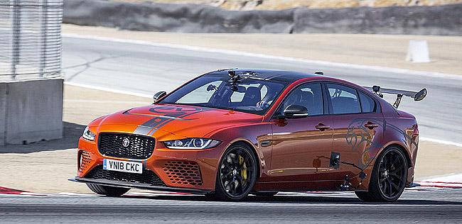 HOT LAP AT SECA: Jaguar's limited-edition XE SV Project 8 sedan is claiming to be the world's fastest sedan. Image: Jaguar Cars / Newspress