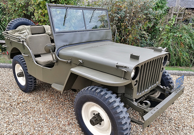 McQUEEN'S JEEP FOR AUCTION: The action-movies star owned a Willys US Army Jeep - now its up for auction. Image: Newspress / Silverstone Auctipns