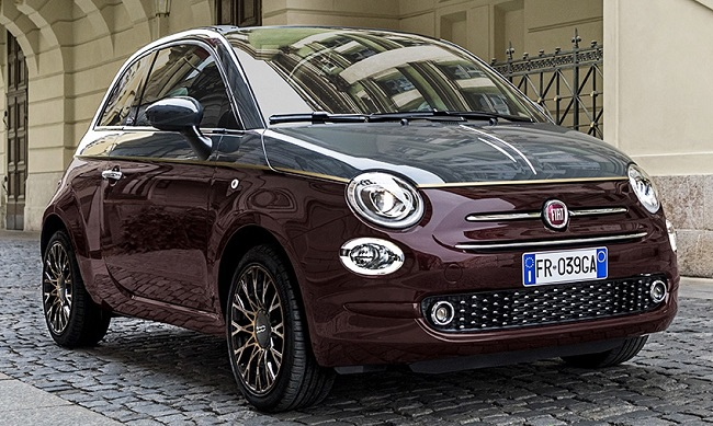 LUCKY LONDONERS: This is the autumnal Fiat 500 Fiat 500 Collezione with falling-leaves colour schemes. Image: Newspress / Fiat