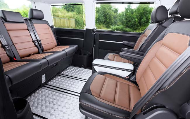 GOING BUSH IN COMFORT: This is the new VW Caravelle PanAmericana - all-wheel drive, gravel-road protection, diesel economy. Image: VW SA