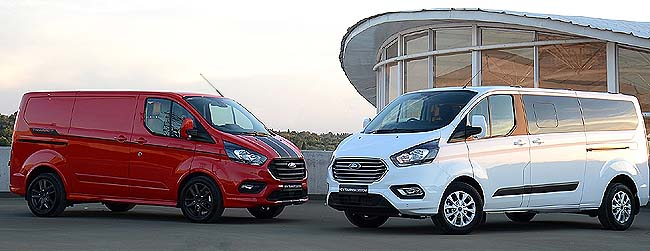 2019 FORD TRANSIT: Hot vans, hot colours, and take your office with you. Image: Ford SA