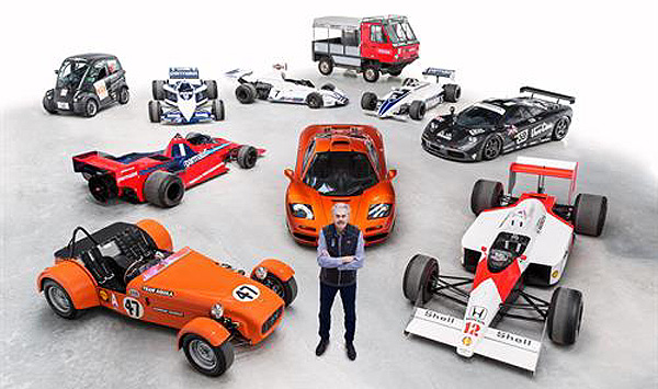 THE MASTER AND HIS CREATIONS: Design maestro Gordon Murray with some of his creations. Image: Newspress