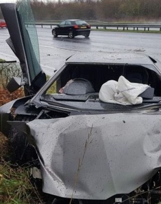LAMBO TRASHED FOR CHRISTMAS. Image: Merseyside Police