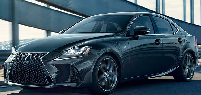 2019 LEXUS IS 300 F SPORT: A new line of style in limited numbers. Image: Lexus US