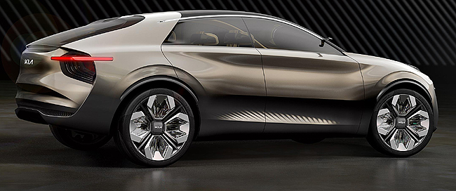 DIAMOND FINISH: The Kia 22'' wheels on the Imagine showcar at Geneva 2019 each has four diamond-like insert in each wheel. Image: Kia Motors