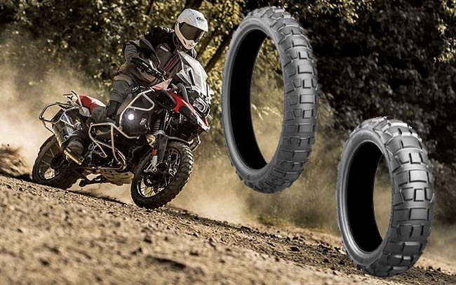 GET OUT THERE! Perhaps on a new range of Battlax off-road motorcycle tyres. Image: Supplied
