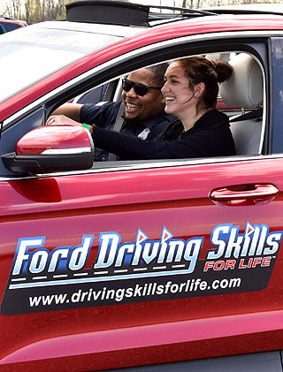 FORD DRIVING SKILLS: Extra lessons for newly licensed drivers. Image: Ford US