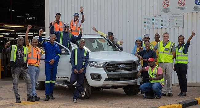 READY TO ROLL: Ford SA has started production of the Ford Ranger - including the Raptor - in Pretoria and Port Elizabeth. Image: Ford SA