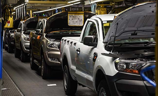 HEADING FOR EUROPE: Ford SA has been awarded a contract to supply thousands of Ranger bakkies to the EU. Image: Ford SA