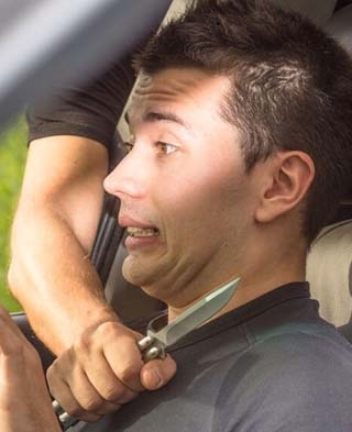 HIGHWAY PANIC: What to do if you're in peril at the hands of a hijacker. Image: MasterDrive