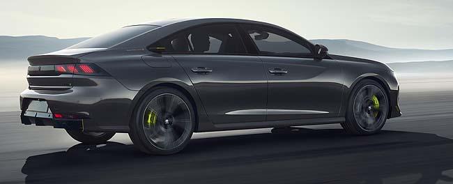 ALL SET FOR 2019 GENEVA AUTO SHOW: Peugeot's high-performance 508 Peugeot Sport Engineered concept. Image: Peugeot