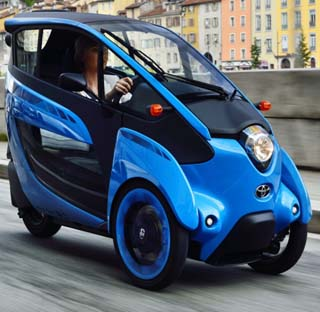 TAKING THE I-ROAD: A fresh approach to inexpensive electric commuting. Image: Toyota