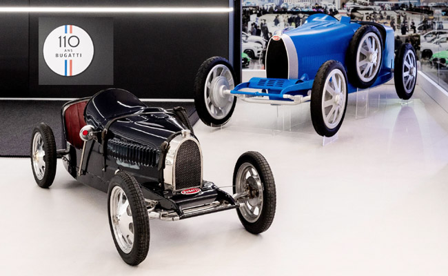 BUGATTI BABY II: The anniversary Babys look the same as the original but and a half-size bigger, have electric power and are capable of cracking records at the local kart track. Image: Bugatti.
