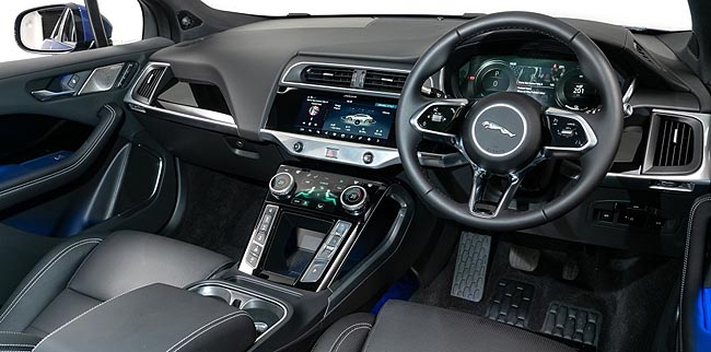 2019 JAGUAR I-PACE: All-wheel drive and two powerful motors let it live up to the name. Image: Jaguar Land Rover