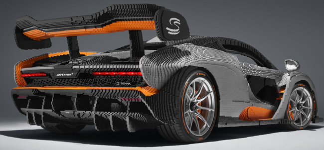LEGOLAND McLaren - and yes, you can climb into the cabin. Image: Newspress