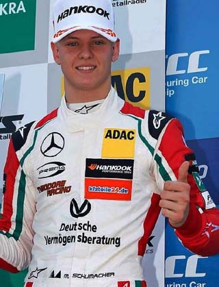 MICK SCHUMACHER: The son of five-times F1 champion Michael is already used to being on a podium. Image; Facebook
