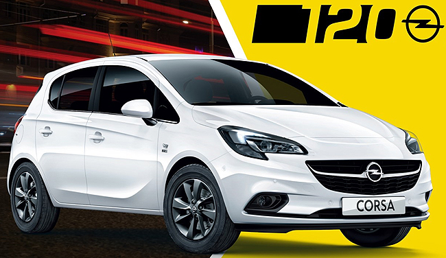 2019 OPEL SPECIAL EDITION: Happy anniversary model celebrates 120 years of Opel production. Image: Opel