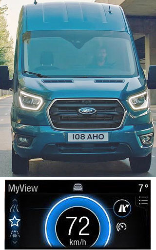 SMART VANS: Ford's 2019 Transits not only look great - they also have some fancy new gadgets. Image: Ford UK