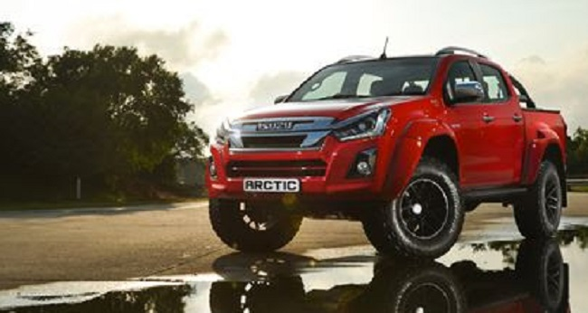 GOING BIG WITH ISUZU: One of the balloon-tyred Isuzu bakkies. Image: Supplied