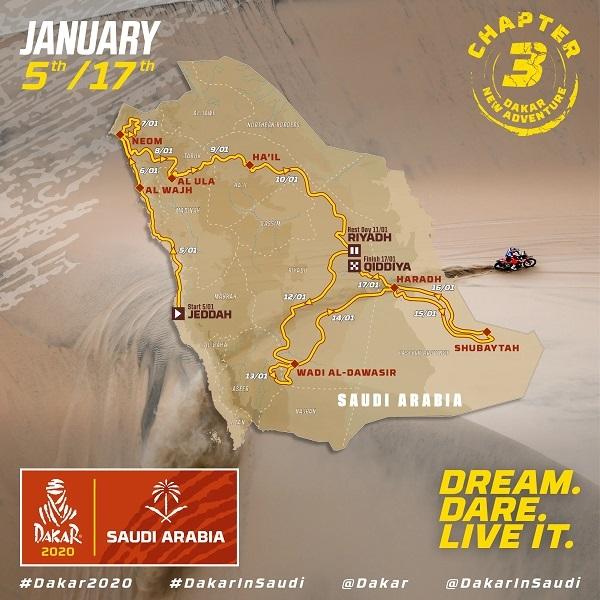 dakar rally route full